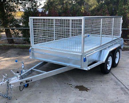 10x5 tandem cage galvanised trailer