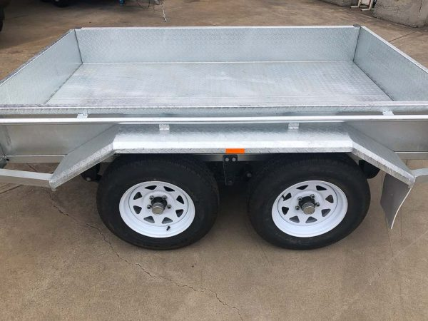 8x5 tandem galvanised trailer